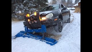 Snow Plowing 2017, First Snow Fall