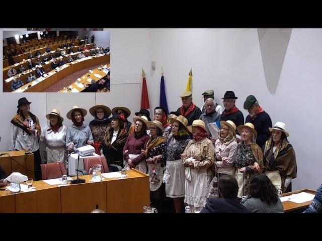 Cante Alentejano na Assembleia Geral da Câmara Municipal de Oeiras (8 Janeiro 2019)