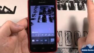 Обзор смартфона Philips W536