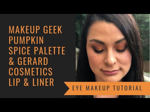 Makeup Geek Pumpkin Spice Palette Look & Gerard Cosmetics Lip & Liner thumbnail