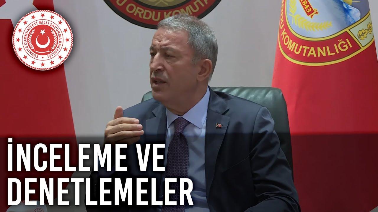 Bakan Akar Erzincan'daki Birliklerde İnceleme ve Denetlemelerde Bulundu