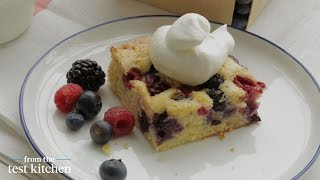 Red, White And Blue Mixed-berry Sheet Cake - From The Test Kitchen