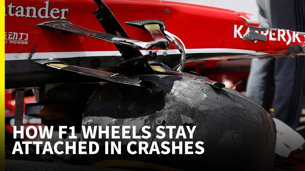 How F1 Wheels Stay Attached In Crashes Youtube
