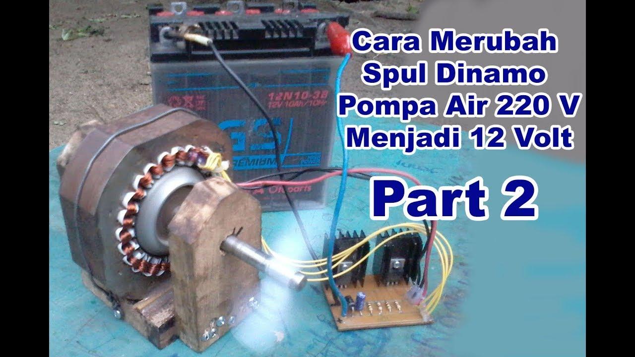 PROJECT 12 Volt Water Pump Coil - POMPA AIR Dinamo Jadi 12V - Part ...