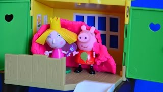 Peppa Pig English Episode Sleepover Play Doh Blanket with Ben and Holly Little Kingdom