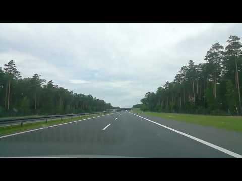 Polish Highway car drive. Road trip in Poland