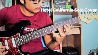 Hotel California Guitar Solo Cover || Living on Strings || Single Guitar Cover