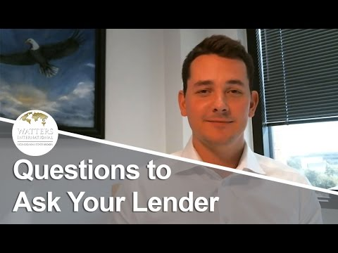 Greater Austin Real Estate Agent: Questions to Ask Your Lender