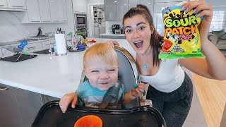 Baby Brother tries Foods for the First Time!