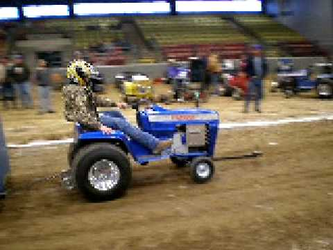 12hp stock garden tractor pull FULL PULL YouTube