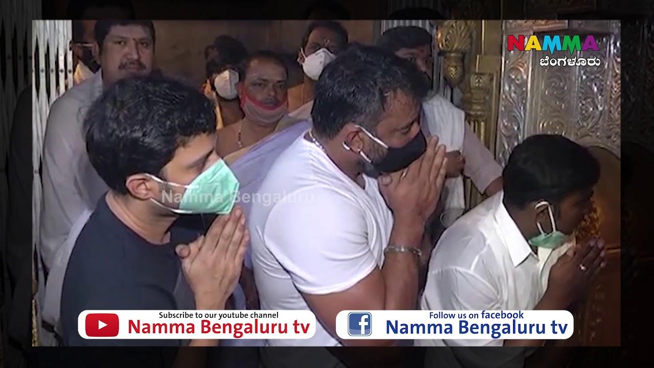 Challenging Star Darshan Visits Chamundeshwari Temple @ Mysore Ashada Shukravara