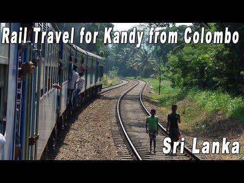 Sri Lanka Rail Travel from Colombo to Kandy【Note: Wind Noise】