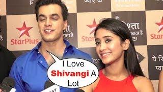 Yeh Rishta Kya Kehlata Hai Mohsin And Shivangi CUTE Interview At Yeh Rishtey Hai Pyaar Ke Launch