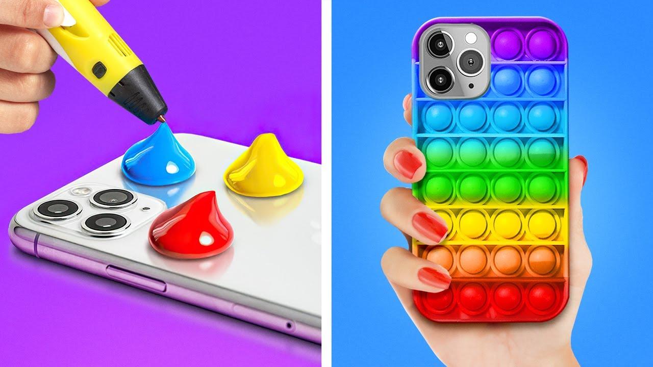 TRUCOS TELEFÓNICOS INGENIOSOS || Ideas HTM brillantes y artesanías para tu teléfono por 123 GO Like!
