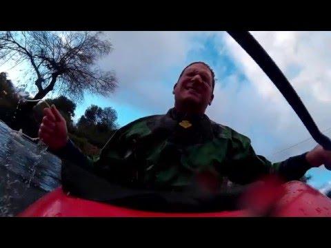 Kayak In Banias Stream And The Jorden River Israel