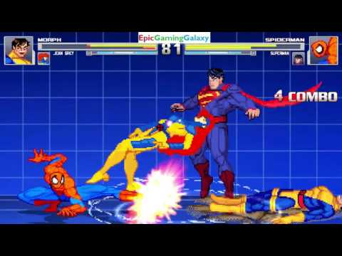Superman And Spider-Man VS Morph And Jean Grey In A MUGEN Match / Battle / Fight