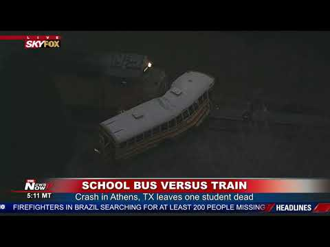 ONE STUDENT DEAD, ONE INJURED: School Bus Collides with Train in Athens, Texas