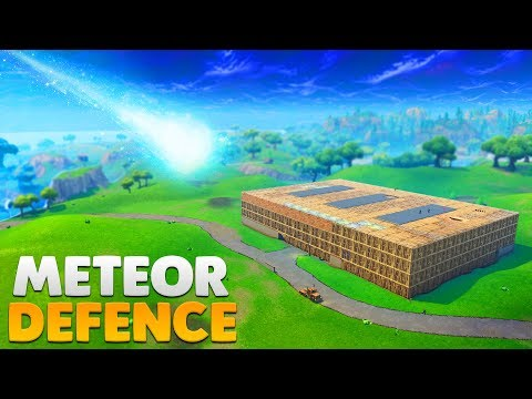 BUILDING A METEOR BUNKER FOR DUSTY DEPOT | Fortnite Battle Royale