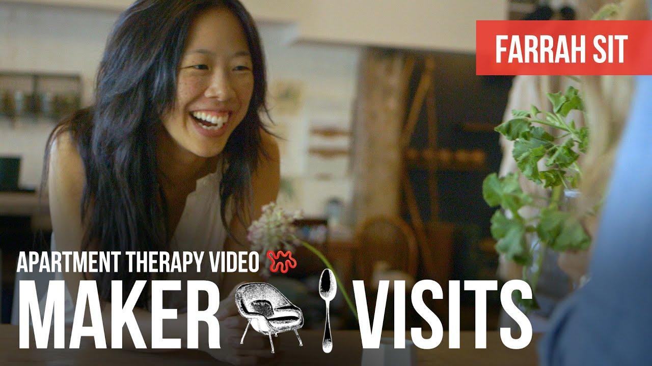 Apartment therapy maker visits farrah sit youtube for Apartment therapy melissa maker