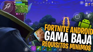 FORTNITE ANDROID LITE FOR LOW RANGE! / MINIMUM REQUIREMENTS TO DOWNLOAD FORNITE ANDROID LITE