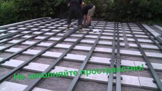 Укладка террасной доски Megawood(В данном видеоролике показана подробная инструкция по монтажу террасой доски из древесно-полимерного..., 2014-11-22T12:58:47.000Z)