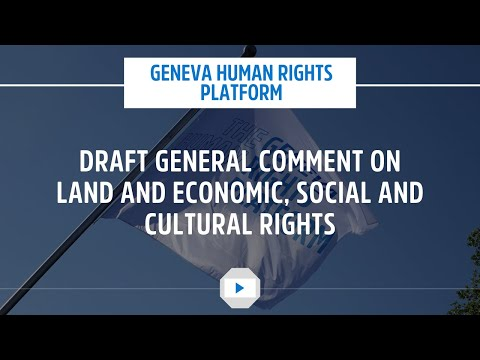 Draft General Comment on Land and Economic, Social and Cultural Rights