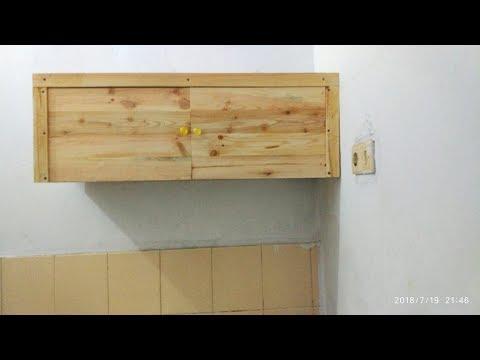 Cara Membuat Lemari Dinding Dapur Dari Kayu Brkas Pallet Youtube