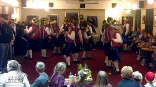 Saddleworth Morris Men at Boarshurst Band Club, Greenfield, Nr. Oldham. OL3 7EU