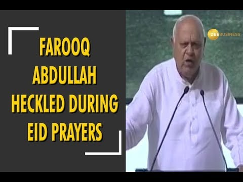 Srinagar: Farooq Abdullah heckled during Eid prayers for saying 'bharat mata ki jai'