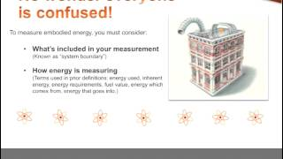 Demystifying Embodied Energy