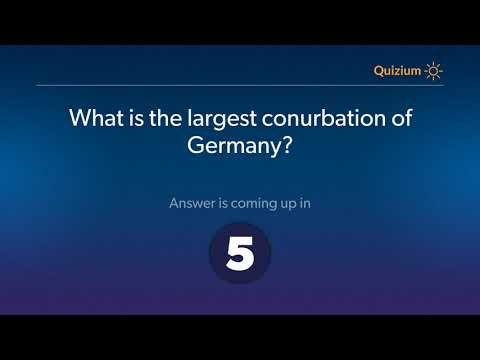What is the largest conurbation of Germany?   Germany Quiz
