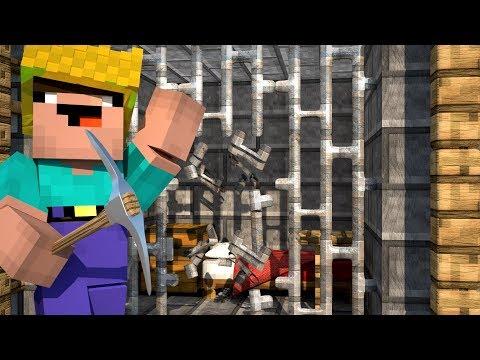видео: НУБИК БОБ УБЕГАЕТ ИЗ ТЮРЬМЫ! - Приключения Боба в Майнкрафт! #3