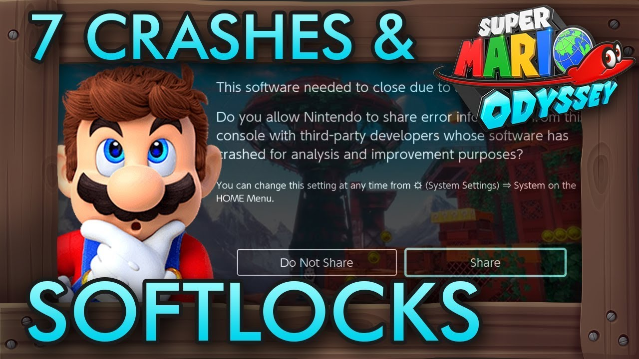 7 Ways to Crash or Softlock Super Mario Odyssey