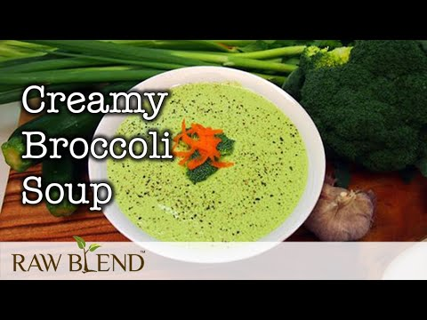 How to make Hot Soup (Creamy Broccoli Recipe) in a Vitamix Blender | Video