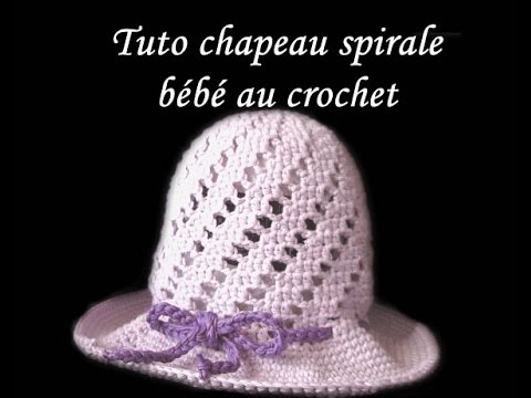 tuto chapeau cloche spirale pour bebe au crochet facile youtube. Black Bedroom Furniture Sets. Home Design Ideas