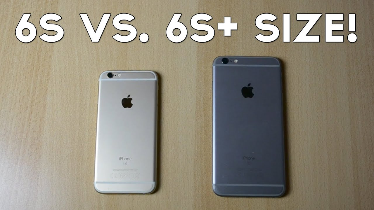 iphone 6 vs 6s size
