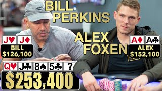 Flopped Set vs AA in Million Dollar Cash Game ♠ Live at the Bike!