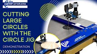 Accuright™ Circle Cutting Jig Cutting Larger Circles.