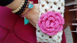 Çiçekli Saç Bandı / Flower Crochet Headband