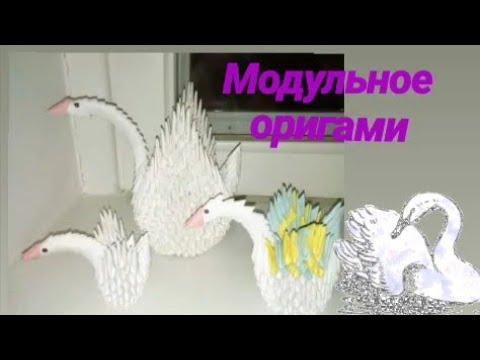 Лебеди из модульного оригами