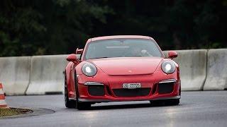 Race Track Action! Porsche 911 GT3 (991) going sideways during #radical14