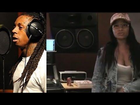 Lil Wayne and Nicki Minaj Recording in Studio | JTFLASHBACK