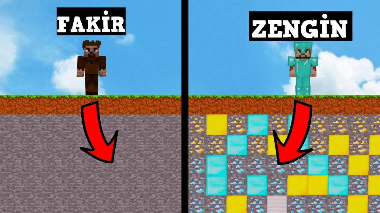 Zengin Vs Fakir 89 Minecraft Dizisi Youtube