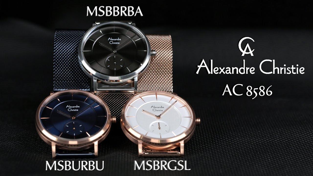 Jam Tangan Alexandre Christie AC 8586 Man Black c6ccf6f1e1