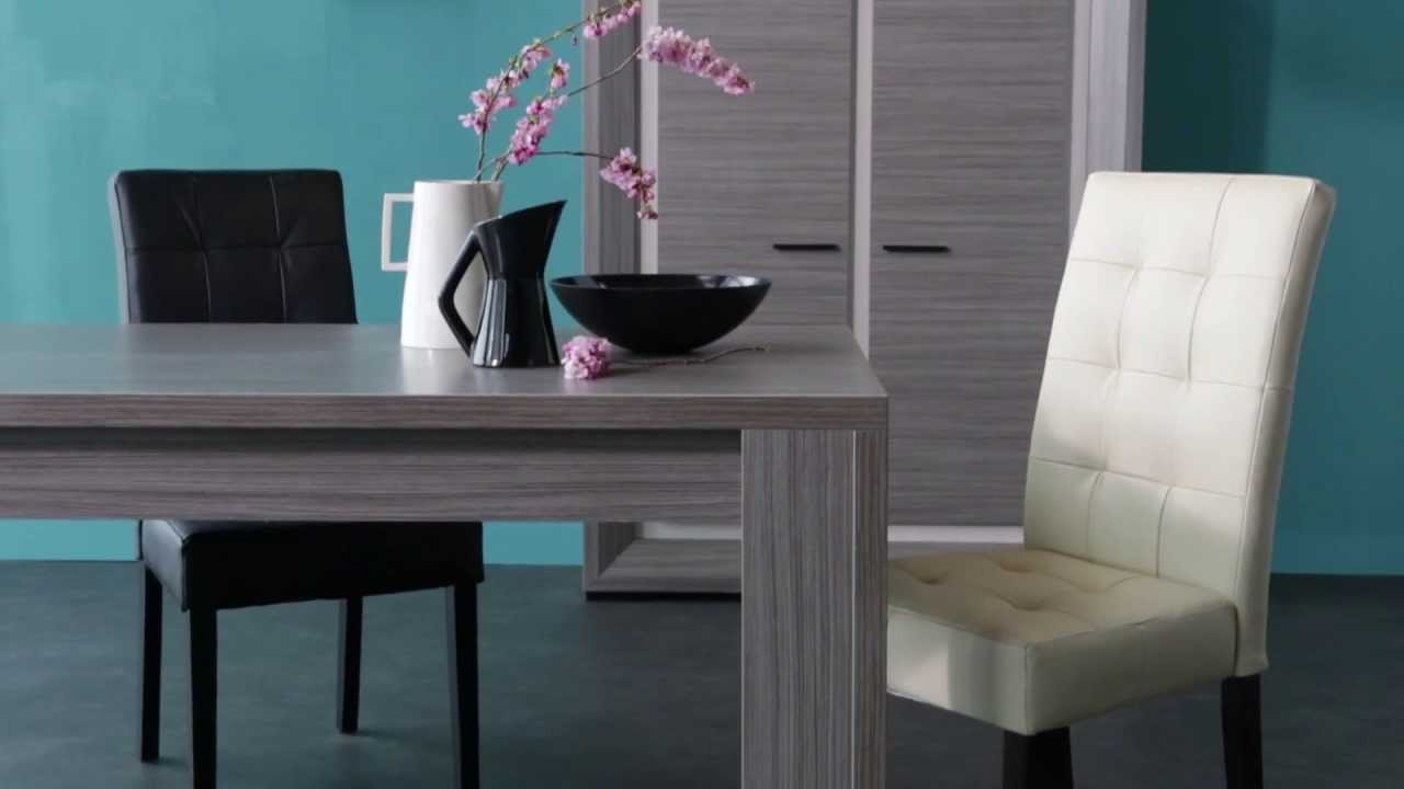 une salle manger aux lignes pures catalogue but 2013 2014 page 102 youtube. Black Bedroom Furniture Sets. Home Design Ideas