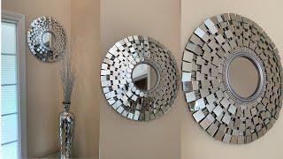 Glam Wall Mirror DIY || Super Easy & Affordable