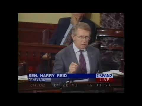"""1993: Harry Reid Chastises Immigration System, Rips """"Absurd"""" Diversity Visa & Chain Migration Policy"""