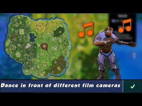 Dance In Front Of Different Film Cameras All 10 Locations Fortnite Season 4 Week 2 Challenges