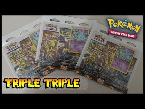 Triple Triple Pack Unboxing Cerco de Vapor - Pokemon TCG