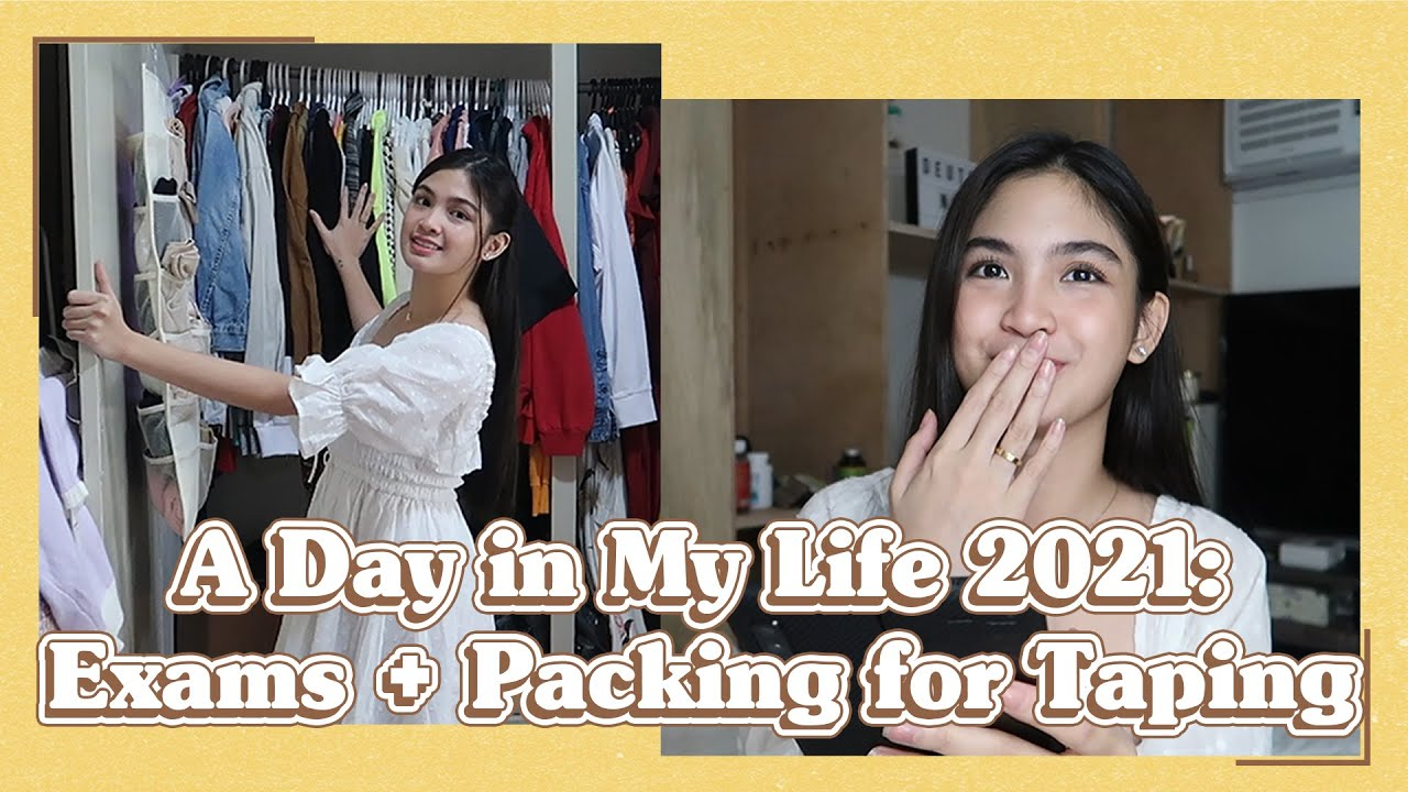 A DAY IN MY LIFE: EXAMS + PACKING FOR BAGONG UMAGA TAPING | Heaven Peralejo